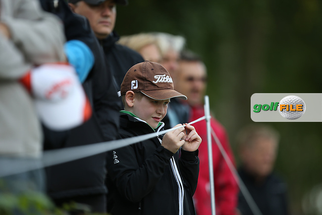 Young spectator during the Final Round of the D&D Real Czech Masters 2014 from the Albatross Golf Resort, Vysoky Ujezd, Prague. Picture:  David Lloyd / www.golffile.ie