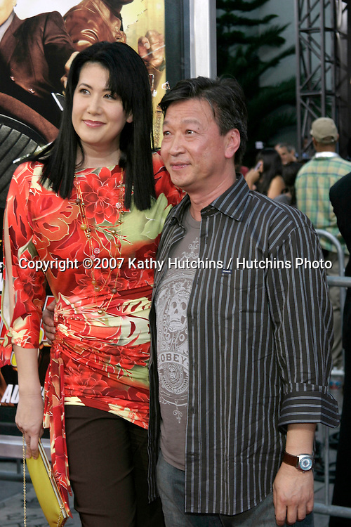 "Tzi Ma & guest.""Rush Hour 3"" Premiere.Grauman's Chinese.Los Angeles, CA.July 30, 2007.©2007 Kathy Hutchins / Hutchins Photo...."