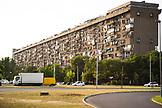 SERBIA, Belgrade, Old apartment building in Novi Beograd or New Belgrade, Eastern Europe