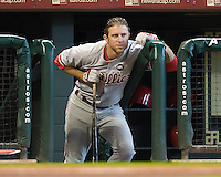 Utley, Chase 5500.jpg Philadelphia Phillies at Houston Astros. Major League Baseball. September 6th, 2009 at Minute Maid Park in Houston, Texas. Photo by Andrew Woolley.