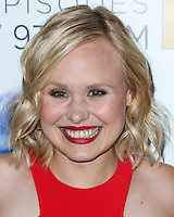 LOS ANGELES, CA, USA - NOVEMBER 04: Alison Pill arrives at the Los Angeles Season 3 Premiere Of HBO's Series 'The Newsroom' held at the DGA Theatre on November 4, 2014 in Los Angeles, California, United States. (Photo by Xavier Collin/Celebrity Monitor)