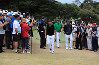 Abraham Ancer (International) and Marc Leishman (International) walking to the 4th tee during the Second Round - Foursomes of the Presidents Cup 2019, Royal Melbourne Golf Club, Melbourne, Victoria, Australia. 13/12/2019.<br /> Picture Thos Caffrey / Golffile.ie<br /> <br /> All photo usage must carry mandatory copyright credit (© Golffile | Thos Caffrey)