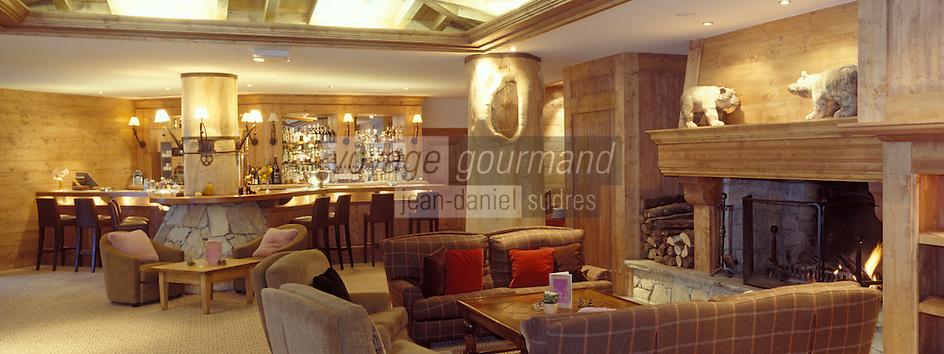 """Europe/France/73/Savoie/Val d'Isère: Hotel """"Les Barmes de l'Ours"""" -salon et bar"""