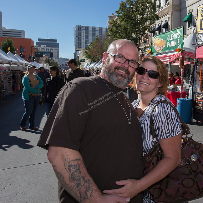 Steven Valentine and Patricia Glover from Fernley attend the 35th Annual Eldorado Great Italian Festival held in downtown Reno on Saturday, October 8, 2016.