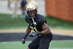 Essang Bassey (21) of the Wake Forest Demon Deacons prior to the game against the Louisville Cardinals at BB&T Field on October 28, 2017 in Winston-Salem, North Carolina.  The Demon Deacons defeated the Cardinals 42-32.  (Brian Westerholt/Sports On Film)
