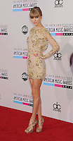 LOS ANGELES, CA - NOVEMBER 18: Taylor Swift attends the 40th Anniversary American Music Awards held at Nokia Theatre L.A. Live on November 18, 2012 in Los Angeles, California.PAP1112JP313..PAP1112JP313..