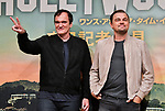 "Director Quentin Tarantino(L) and actor Leonardo DiCaprio attend the press conference for ""Once upon a time in Hollywood"" at the Ritz-Carlton Tokyo in Tokyo, Japan on August 26, 2019. (Photo by AFLO)"
