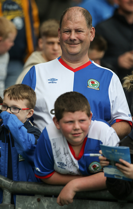 Blackburn Rovers fans soak up the atmosphere before kick off<br /> <br /> Photographer Alex Dodd/CameraSport<br /> <br /> The EFL Sky Bet Championship - Blackburn Rovers v Aston Villa - Saturday 29th April 2017 - Ewood Park - Blackburn<br /> <br /> World Copyright &copy; 2017 CameraSport. All rights reserved. 43 Linden Ave. Countesthorpe. Leicester. England. LE8 5PG - Tel: +44 (0) 116 277 4147 - admin@camerasport.com - www.camerasport.com