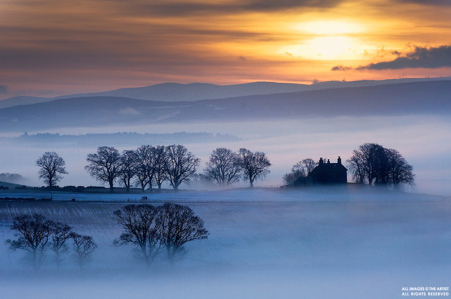 Dawn mist near Jamestown, Scottish Highlands