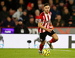 George Baldock of Sheffield Utd during the Premier League match at Bramall Lane, Sheffield. Picture date: 10th January 2020. Picture credit should read: Simon Bellis/Sportimage