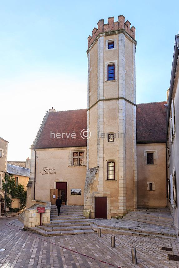 France, Cher (18), région du Berry, Sancerre, la Maison des Sancerre // France, Cher, Sancerre, Maison des Sancerre