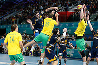 15.01.2013 World Championshio Handball. Match between Spain vs Australia (51-11) at the stadium La Caja Magica. The picture show  Angel Montoro Cabello (Right Back of Spain)