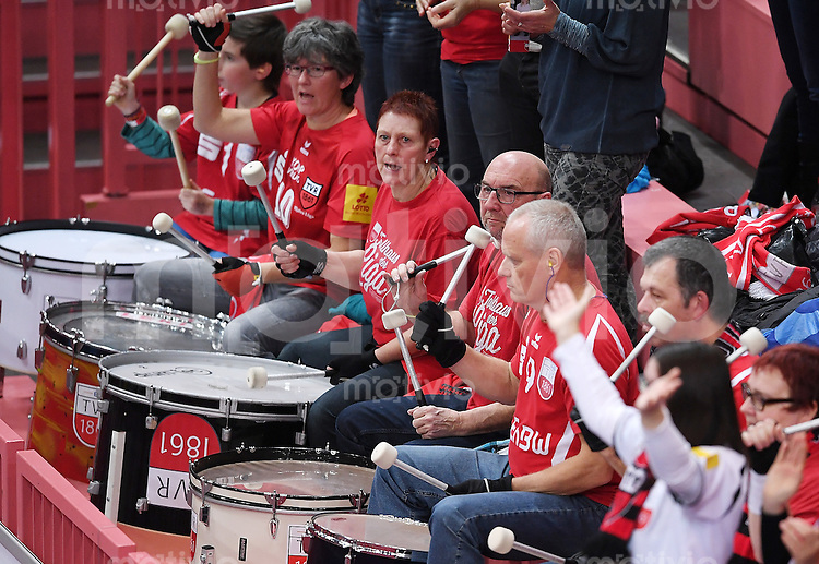 Volleyball 1. Bundesliga Saison 2016/2017  28.12.2016 TV Rottenburg - VfB Friedrichshafen Trommler TV Rottenburg
