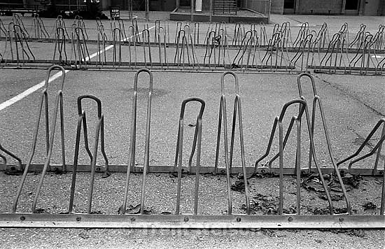 Bike racks at Walt Disney Elementary<br />