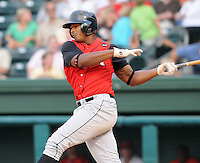 August 25, 2009: Outfielder Kenny Williams (10) of the Kannapolis Intimidators, South Atlantic League affiliate of the Chicago White Sox, in a game at Fluor Field at the West End in Greenville, S.C. Photo by: Tom Priddy/Four Seam Images