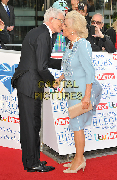 Paul O'Grady and Camilla, Duchess of Cornwall at the NHS Heroes Awards 2018, London Hilton on Park Lane Hotel, Park Lane, London, England, UK, on Monday 14 May 2018.<br /> CAP/CAN<br /> &copy;CAN/Capital Pictures