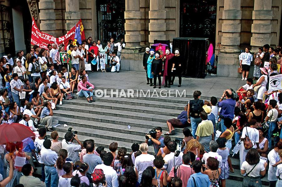 Celebração do Dia Internacional da Mulher, São Paulo. 1985. Foto de Juca Martins.