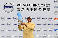 Alexander Bj&ouml;rk (SWE) poses with the trophy after the final round of the Volvo China Open played at Topwin Golf and Country Club, Huairou, Beijing, China 26-29 April 2018.<br /> 29/04/2018.<br /> Picture: Golffile | Phil Inglis<br /> <br /> <br /> All photo usage must carry mandatory copyright credit (&copy; Golffile | Phil Inglis)