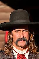 A man portrays Wild Bill Hickok, Main Street, Deadwood, Black Hills, South Dakota USA