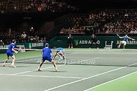 ABN AMRO World Tennis Tournament, Rotterdam, The Netherlands, 18 Februari, 2017, Nicolas Mahut (FRA), Pierre-Hugues Herbert (FRA), Ivan Dodig (CRO), Marcel Granollers (ESP)<br /> Photo: Henk Koster