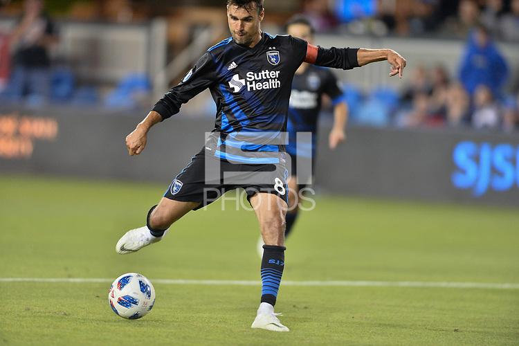 San Jose, CA - Wednesday August 29, 2018: Chris Wondolowski during a Major League Soccer (MLS) match between the San Jose Earthquakes and FC Dallas at Avaya Stadium.