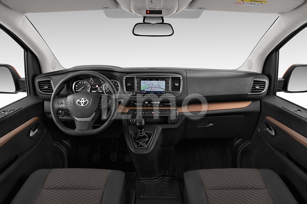 Stock photo of straight dashboard view of 2018 Toyota Proace-Verso Viaggio 5 Door Minivan Dashboard