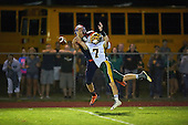 Alexander Trojans vs Attica Blue Devils Genesee Region League Football at Attica High School on September 9, 2016 in Attica, New York.  (Copyright Mike Janes Photography)