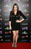 KHLOE KARDASHIAN .At SWAGG VIP Kid Rock Concert at the Joint inside the Hard Rock Hotel and Casino, Las Vegas, Nevada, USA,.7th January 2010..full length hand on hip black mini dress sandals platform wedding ring .CAP/ADM/MJT.© MJT/AdMedia/Capital Pictures.