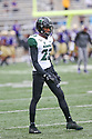 SEATTLE, WA - SEPTEMBER 14: Hawaii's Akil Francisco during the college football game between the Washington Huskies and the Hawaii Rainbow Warriors on September 14, 2019 at Husky Stadium in Seattle, WA.