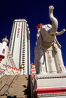 AJ2557, casino, Atlantic City, hotel, New Jersey, Elephant statue at the Trump Taj Mahal Casino and Resort in Atlantic City in the state of New Jersey.