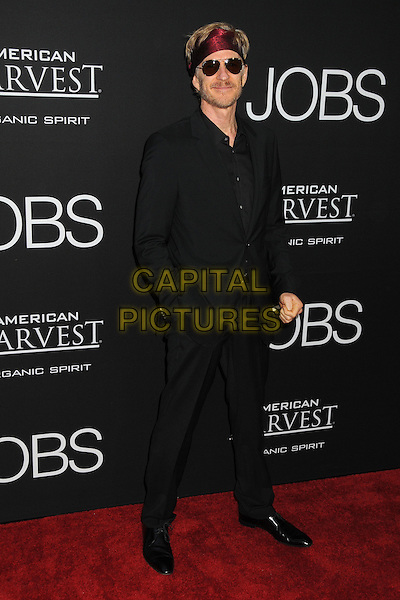 Matthew Modine<br /> &quot;Jobs&quot; Los Angeles Premiere held at Regal Cinemas L.A. Live, Los Angeles, California, USA.<br /> August 13th, 2013<br /> full length black suit red headband sunglasses shades  <br /> CAP/ADM/BP<br /> &copy;Byron Purvis/AdMedia/Capital Pictures