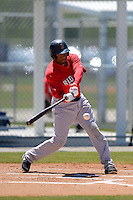 Boston Red Sox outfielder Henry Ramos #30 during a minor league Spring Training game against the Minnesota Twins at JetBlue Park Training Complex on March 27, 2013 in Fort Myers, Florida.  (Mike Janes/Four Seam Images)