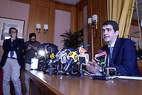 """Roma, 19 Maggio 2015<br /> L'europarlamentare Raffaele Fitto dopo l'addio a Forza Italia annuncia alla stampa la nascita del nuovo partito """"Conservatori e Riformisti"""""""