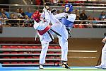 (L-R) Yu Zhuo Hou (CHN), Mayu Hamada (JPN), OCTOBER 8, 2013 - Taekwondo : Tianjin 2013 the 6th East Asian Games, Women's -57kg final at Dongjuzi Gymnasium, Tianjin, China. (Photo by AFLO SPORT)