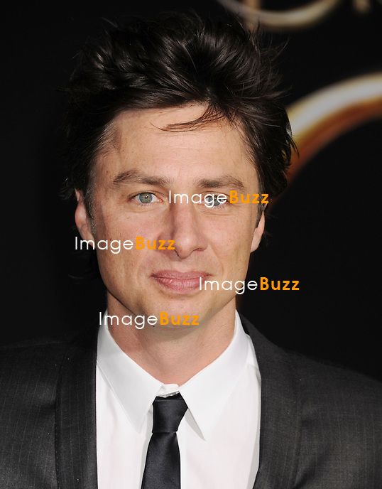 Zach Braff during the premiere of the new movie from Walt Disney Pictures OZ THE GREAT AND POWERFUL, held at the El Capitan Theatre, on February 13, 2013, in Los Angeles.