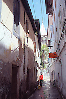 Tanzania Zanzibar A typical alley in Stone Town