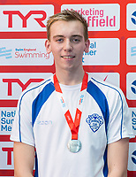Picture by Allan McKenzie/SWpix.com - 05/08/2017 - Swimming - Swim England National Summer Meet 2017 - Ponds Forge International Sports Centre, Sheffield, England - Matthew Rogers takes silver in the mens 17yrs 50m breaststroke.