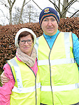 John and Paula Browne who took part in the 5k walk/run from An Grianan in aid of St Mary's special school Drumcar. Photo:Colin Bell/pressphotos.ie