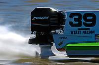 Closeup of Wyatt Nelson's (#39) Mercury engine at speed.   (Formula 1/F1/Champ class)