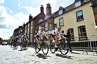 Picture by Allan McKenzie/SWpix.com - 14/05/2017 - Cycling - HSBC UK British Cycling Spring Cup Series  - Lincoln Grand Prix 2017 - Team Wiggins ( left ) Joey Walker