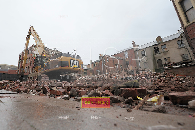 Adelaide Street/ Tower Street demolition Blackpool Lancashire UK......© Phill Heywood.