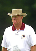 Washington Redskins head coach Marty Schottenheimer suveys the 2001 crop of rookies and free agents during pre-camp drills at Redskins Park in Ashburn, Virginia on July 26, 2001.   Full training camp will open at Dickinson College, Carlisle, Pennsylvania on July 30, 2001.<br /> Credit: Arnie Sachs / CNP