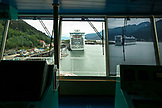 USA, Alaska, Juneau, on the bridge of the Holland America Cruise Ship, the Oosterdam, with the captain