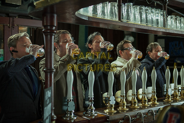 The World's End (2013) <br /> Martin Freeman, Simon Pegg, Nick Frost, Paddy Considine &amp; Eddie Marsan<br /> *Filmstill - Editorial Use Only*<br /> CAP/KFS<br /> Image supplied by Capital Pictures