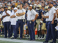 Annapolis, MD - October 21, 2017: Navy Midshipmen head coach Ken Niuamtalolo during the game between UCF and Navy at  Navy-Marine Corps Memorial Stadium in Annapolis, MD.   (Photo by Elliott Brown/Media Images International)