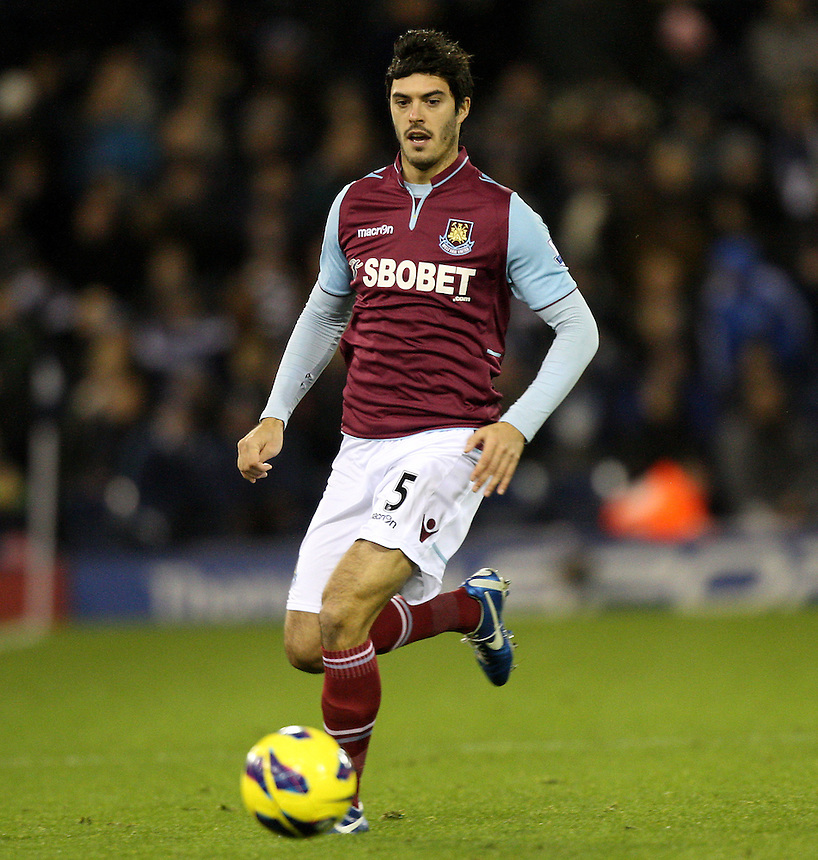 West Ham United's James Tomkins ..Football - Barclays Premiership - West Bromwich Albion v West Ham United - Sunday 16th December 2012 - The Hawthorns - West Bromwich ..