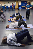 Yoga session at Open Age open day at Paddington Arts