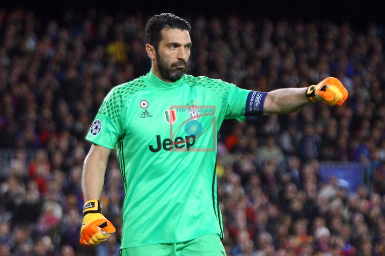 UEFA Champions League 2016/2017.<br /> Quarter-finals 2nd leg.<br /> FC Barcelona vs Juventus Football Club: 0-0.<br /> Gianluigi Buffon.