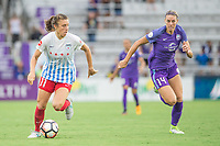Orlando, FL - Saturday July 01, 2017: Sofia Huerta, Alanna Kennedy during a regular season National Women's Soccer League (NWSL) match between the Orlando Pride and the Chicago Red Stars at Orlando City Stadium.