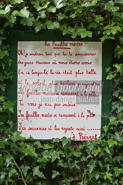 Europe/France/Normandie/Basse-Normandie/50/Manche/Presqu'île de la Hague/Saint-Germain-des-Vaux : Jardin en hommage à Prévert [Non destiné à un usage publicitaire - Not intended for an advertising use]